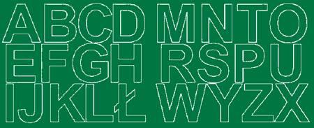 Litery samoprzylepne 6 cm zielone z połyskiem