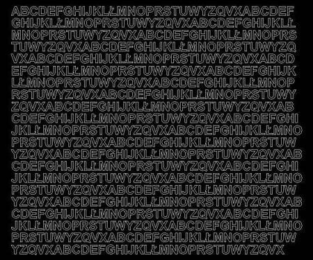 Litery samoprzylepne 7 milimetrów czarne z połyskiem