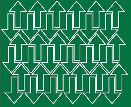 Naklejka strzałki strzałka 5x3cm 72 szt zielony matowy